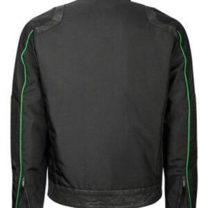 Black Bomber Jacket Water Resistant 1