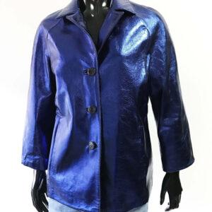 Metallic Blue Blazer Jacket