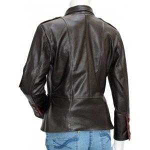 Women's Black Biker Leather Jacket