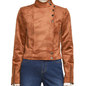Dinah Drake Arrow Suede Leather Jacket