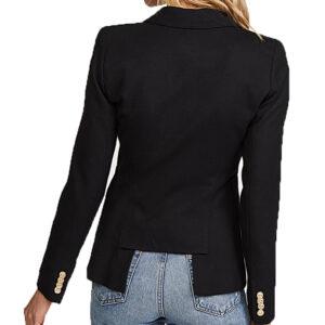 Dinah Drake Single-Button Wool Blazer