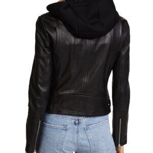 Black Siren Motorcycle Hooded Jacket