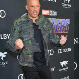 Vin Diesel Avengers Endgame Premiere Im Groot Jacket