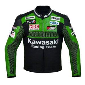 Kawasaki Green Racing Motorcycle Biker Racing Leather Jacket