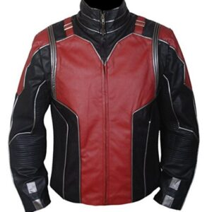 Ant-Man Red and Black Leather Jacket