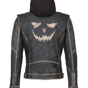 The Killing Joker Suicide Squad Hooded Leather Jacket