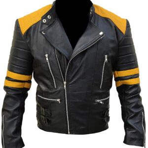 mens-classic-biker-yellow-and-black-leather-jacket