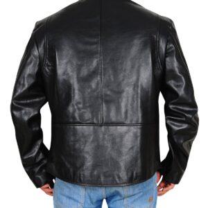 Tony Stark Iron Man Black Leather Jacket