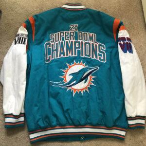 Miami Dolphins 2X Super Bowl Champions Varsity Jacket