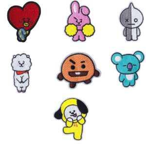 bts-bangtan-boy-cartoon-diy-iron-sew-on-fabric-applique-embroidery-patches-for-clothes-shirt-jacket-jean-backpack-shoe-hat-decor