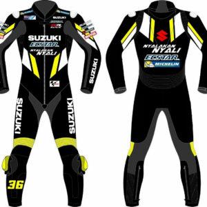 Suzuki Ecstar Moto Gp Motorcycle Leather Racing Suit