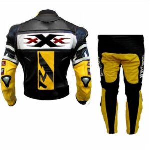 YELLOW R1 MOTORCYCLE LEATHER RACING SUIT
