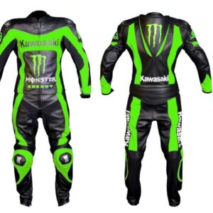 kawasaki-green-monster-racing-motorcycle-leather-suit-with-safety-pads