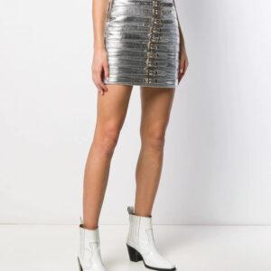 silver-metallic-buckle-detail-biker-mini-skirt