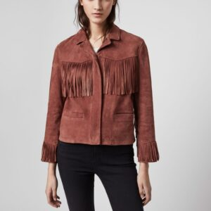 cherry-red-suede-tassel-leather-jacket