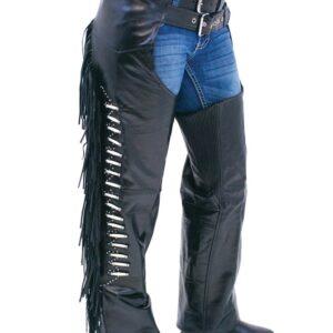 black-leather-chaps-w-fringe-bone-beading