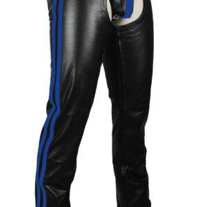 blue-strips-cowhide-leather-black-bikers-chaps