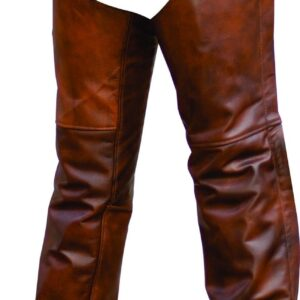 cafe-brown-chaps-premium-buffalo-leather