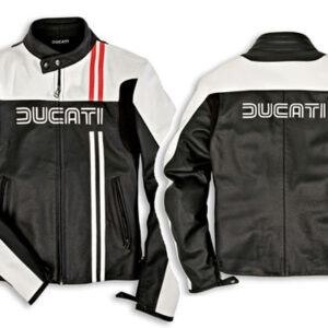 ducati-black-and-white-motorcycle-jacket-with-red-stripes