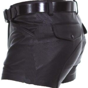 mens-real-sheep-leather-soft-black-with-strips-shorts