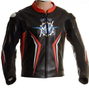 mv augusta race motorcycle leather jacket