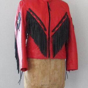 red-and-black-1990s-vintage-leather-fringe-jacket