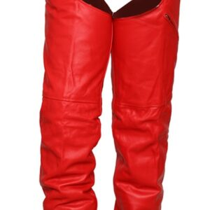 red-premium-buffalo-leather-chaps