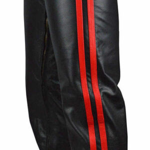 red-stripes-in-black-leather-biker-chaps