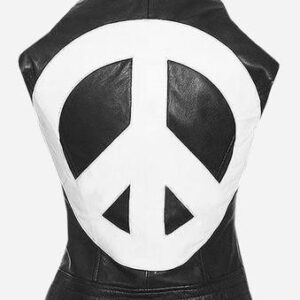 Street Fashion Women Heart Leather Vest