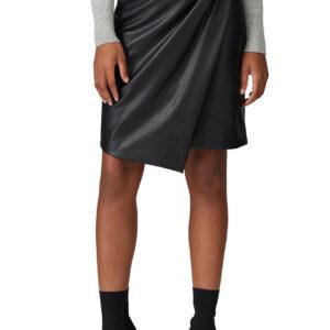 vegan-leather-overlay-skirt
