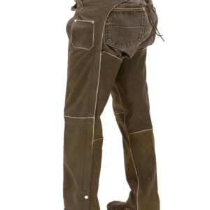 vintage-brown-leather-chaps-with-zipper-cover