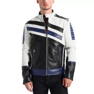 Custom-Black-And-blue-Motorcycle-Leather-Racing-Jacket