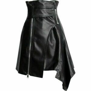 asymmetric-high-waist-black-leather-punk-gothic-skirt