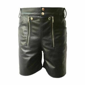 chastity-bondage-real-black-leather-short