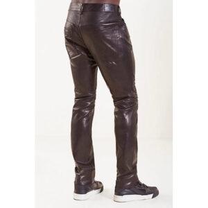 men-casual-skin-tight-fit-dark-brown-leather-pant