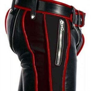 men-leather-bondage-pant-heavy-duty-black-and-red