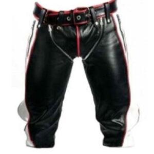 real-black-and-white-leather-heavy-duty-bondage-short