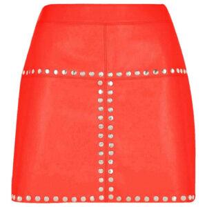 soft-sheep-orange-leather-mini-skirt