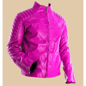 women-pink-superman-style-slim-leather-jacket