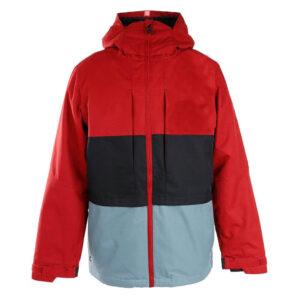 Rusty Red Color Block Satin Jacket