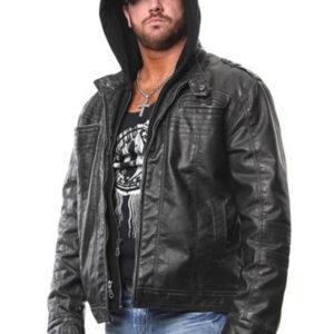 AJ Styles Allen Neal Jones Hoodie Leather Jacket