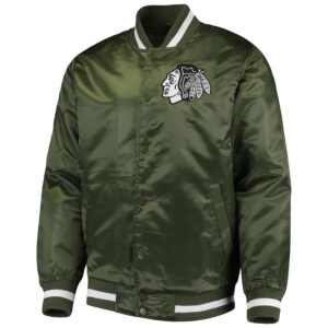 Green Chicago Blackhawks Captain II Satin Jacket