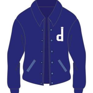 Custom Royal Blue Cafe Racer Cotton Jacket