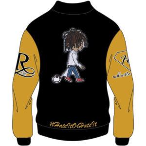 Custom Design Yellow and Black Varsity Jacket