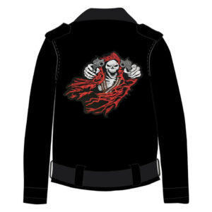 Custom Leather Black Motorcycle Jacket