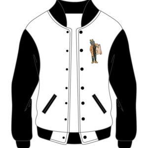 Custom Black and White Varsity Jacket