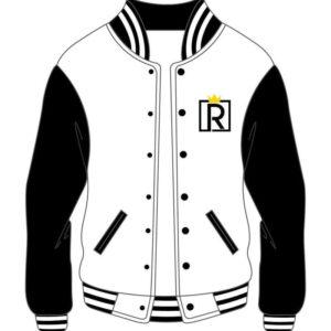 Custom Varsity Royal Black and White Jacket