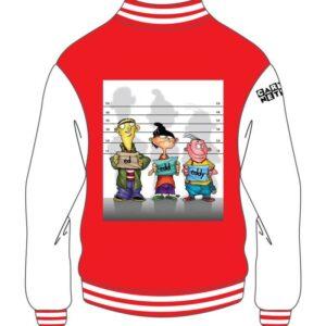 Custom Design Red and White Varsity Jacket