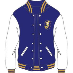 Custom Blue and White Varsity Men Jacket