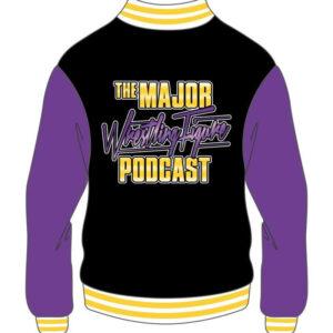 Custom Black and Purple Mens Varsity Jacket
